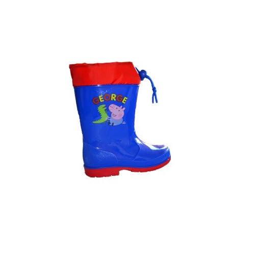 Stivali da pioggia Galosce da Maschietto Peppa Pig Originali-Taglia 24