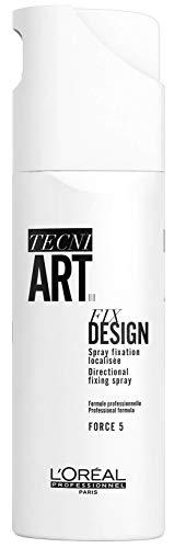 L'Oréal Professionnel Tecni.ART Fix Design Vapo Haarspray, Haarspray starker Halt, präzise Endfixierung, Haltfaktor 5 von 6, 200 ml