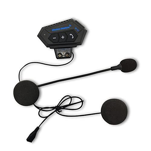 ADFBL Auriculares Bluetooth del intercomunicador de la Motocicleta, Pantalla LCD del intercomunicador del interfono del Casco de la Motocicleta EDR 500M, GPS, Radio FM