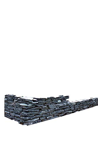 Mauersteine Schiefer schwarz, teilweise gespalten, ca. 15-40 cm, 500 Kg im Big Bag