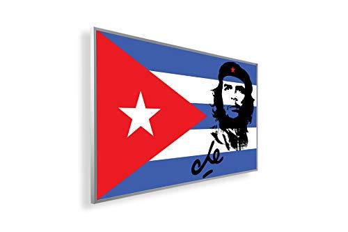 Könighaus Fern Infrarotheizung - Bildheizung in HD Qualität mit TÜV/GS - 200+ Bilder – mit Könighaus Smart Thermostat & APP für IOS/Android - 300 Watt (146. Che Guevara mit Cuba Flagge)