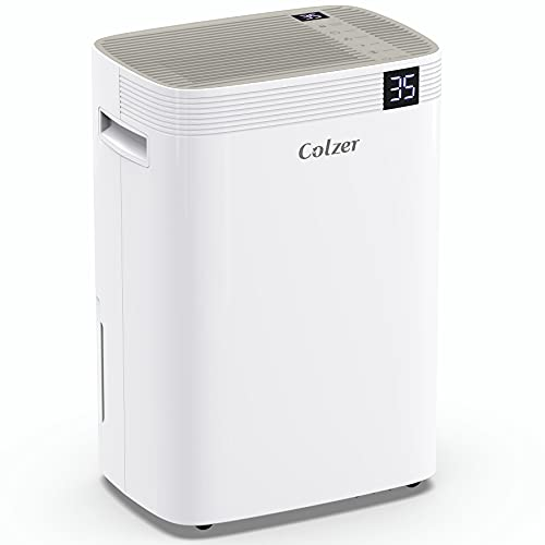 COLZER 100 Pints Dehumidifiers for Home Basements, Garage, Humid Bathroom, Laundry Room, Grow Room, with Drain Hose for Continuous Drainage