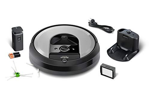 iRobot Roomba i7156 Robot Aspirador Adaptable al hogar, Ideal para Mascotas, Alta Potencia de succión con 2 cepillos de Goma, con conexión WiFi y programable por App