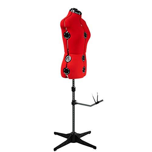 Sewing Online 023816/Rojo Cosa simple 8 Parte maniquí de modista ajustable UK10-16