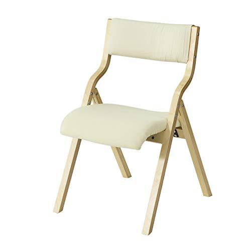 Silla para oficina plegable SoBuy de madera beige
