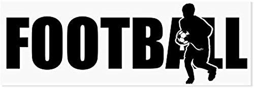 Football Boy – Jugador de fútbol Hobby Sport Ball Goals Game Love Life Vida Familiar Niños – Calcomanía para pared con cita divertida