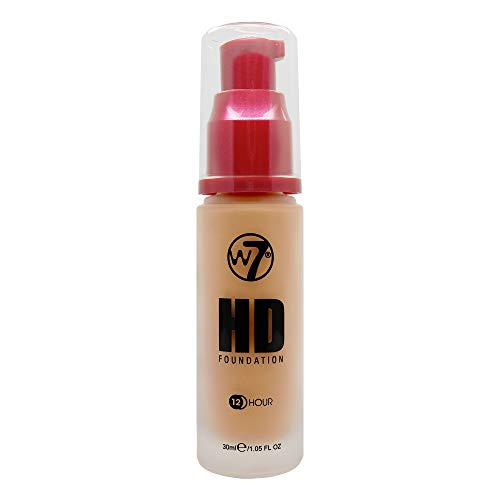 W7 | Foundation | HD Foundation - Tan | Light to Medium Coverage, Lightweight and Long Lasting