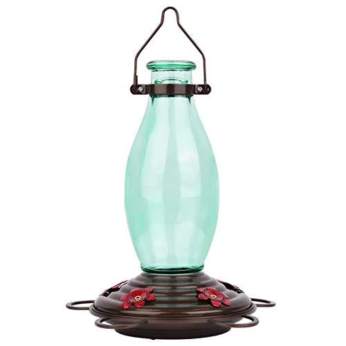 BOLITE 18001 Hummingbird Feeder Glass Wild Bird Feeders, Retro Edison Bulb Bottle, 25 Ounces