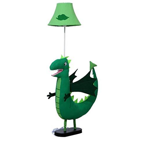 Dinosaur Staande lamp met stoffen lampenkap Animal Cartoon Floor Light for Children's Boys Slaapkamer Living Room Study Verticale Lamp