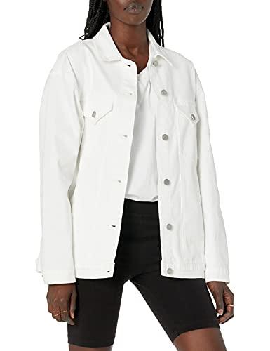Marca Amazon - Andrea Chaqueta Vaquera de Gran Tamaño - denim-jackets Mujer por The Drop