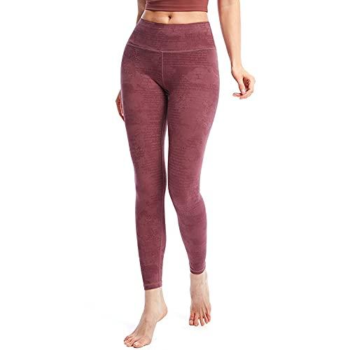 QTJY Pantalones de Yoga Desnudos Pantalones de Fitness de Cadera de melocotón para Mujer, Pantalones de Yoga Ajustados elásticos de Cintura Alta, Leggings de Desgaste Exterior B S