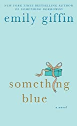 Something Blue by Emily Giffin with turquoise present