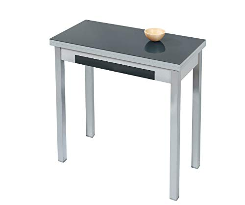 ASTIMESA Mesa de Cocina Tipo Libro Negro 50x90cm ⭐