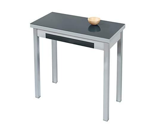 ASTIMESA Mesa de Cocina Tipo Libro Negro 50x90cm
