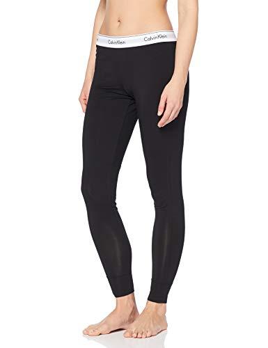 Calvin Klein Damen Schlafanzughose MODERN SLEEPWEAR - PANT, Einfarbig, Gr. 36 (Herstellergröße: S), Schwarz (BLACK 001)