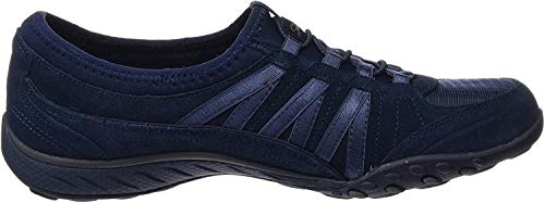 Skechers Damen Breathe-Easy - Moneybags Sneakers, Blau (NVY), 41 EU