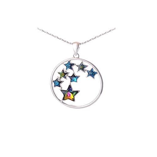 Blue Pearls Colgante de Estrella con Cristales Swarovski y Perlas Azules y Chapado en rodio - Cry H200 C Cry H200 C