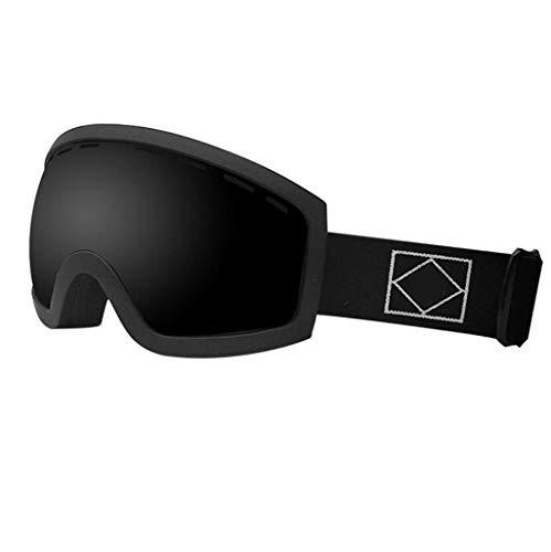 JSHFD Männer, Frauen und Kinder OTG Skibrillen, Anti-Fog, Anti-Blendung, Winddicht, 100% UV400 UV-Schutzbrillen, Geeignet zum Skifahren Snowboard Downhill Ski (Farbe : C)