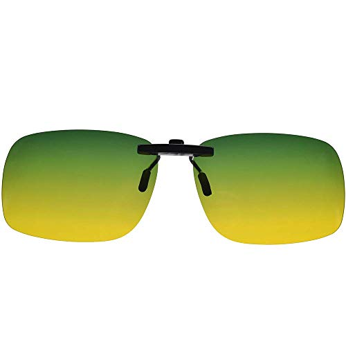 UpaClaire Night Driving Glasses Clip-On, Polarized Glare-Free, High Definition Vision