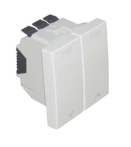 Efapel quadro 45 - Interruptor para persiana 2 módulos q-45 blanco