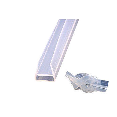 """HUAHA Frameless Flexible Shower Door Seal Sweep for 3/8"""" Glass,10 Ft (U)"""
