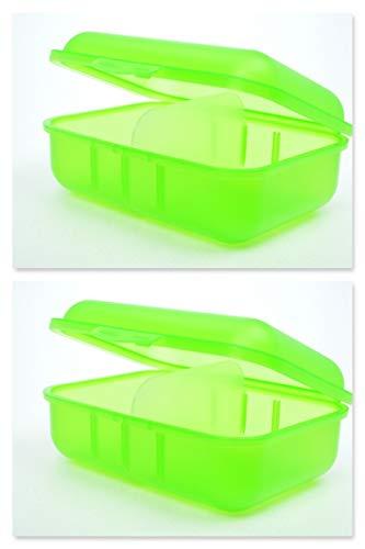 Buchsteiner Brotdose Grün Doppelpack