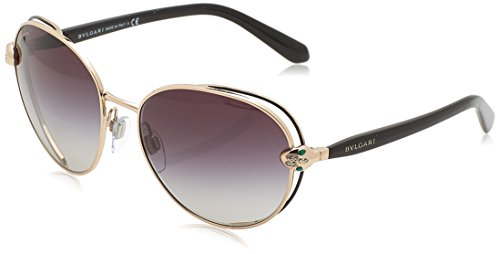 Bvlgari BV6087B 20238G Black/Pink Gold BV6087B Square Sunglasses Lens Category