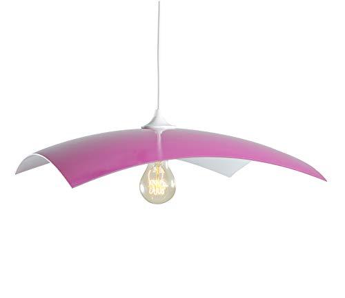 Lussiol 258601 - Lámpara de techo para interior, color fucsia y blanco