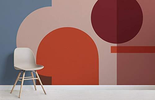 Bunte geometrische Formen modernes Bauhaus-Tapeten-Wandgemälde 200×150cm