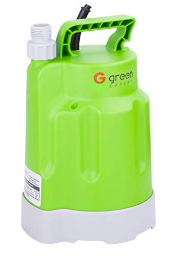Green Expert 203618 1/4HP Submersible Utility Pump Max 1585 GPH High Flow for Quickly Water Removal Household DIY Drain Pump for Dewatering Application Suit to Standard Garden Hose 25ft cord