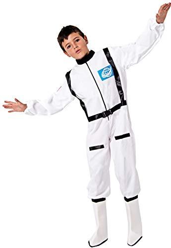 Gojoy Shop- Disfraz de Astronauta para Niños y Niñas Carnaval (Contiene Mono con Botas, 4 Tallas Diferentes) (7-9 años) (10-12 años)
