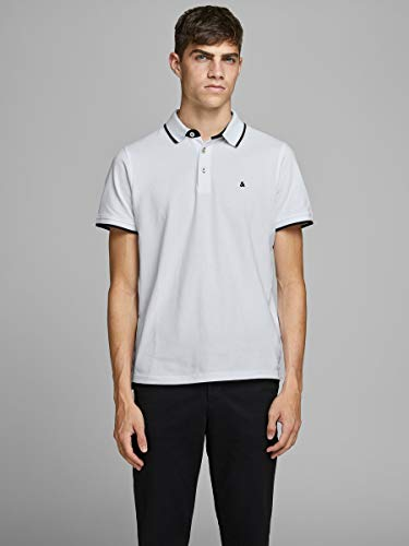Jack & Jones JJEPAULOS Polo SS NOOS White