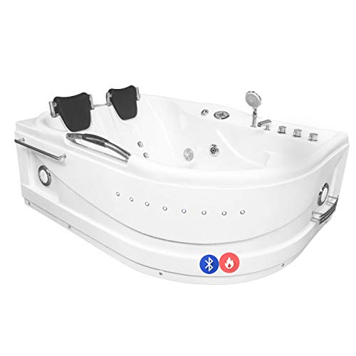 Whirlpool massage hydrotherapy bathtub hot tub 2 person CAYMAN Heater + Bluetooth