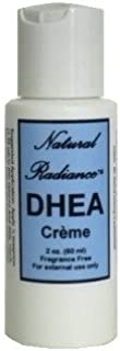 Natural Radiance DHEA (Bio-Identical) Unscented & Paraben-Free - Topical Creme 2 oz. Bottle (NO Pump - Great for Air Travel)