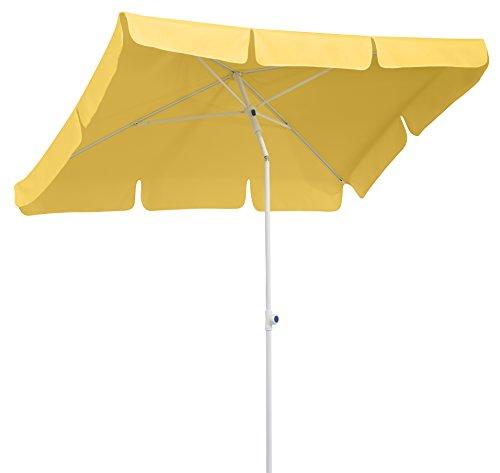 Schneider Sonnenschirm Ibiza, goldgelb, 180x120 cm rechteckig, Gestell Stahl, Bespannung Polyester, 2.6 kg