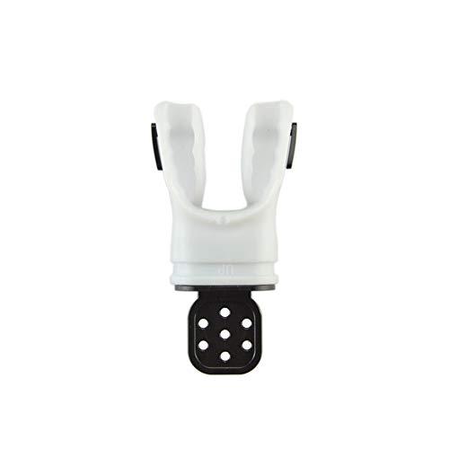 Leoie - Boquilla de Material termoplástico para Tubo de esnórquel para Adultos de Segunda Etapa, regulador, Buceo, Surf, Accesorios, Color Blanco, Medium
