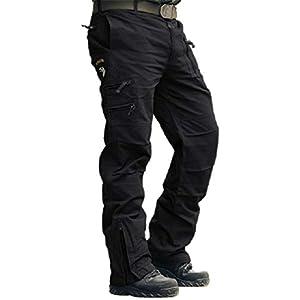 MAGCOMSEN – Pantalón de trabajo para hombre (algodón, ajuste holgado, tallas 30-38)