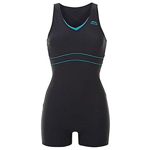 Slazenger Schwimmanzug Badeanzug mit Bein XXXXXXXXL(56 / UK30) navy/türkis