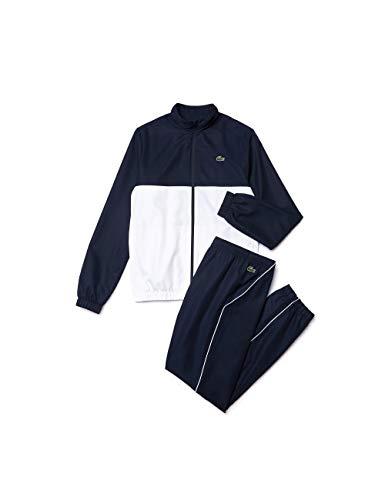 Lacoste Herren Wh4896 Sportswear-Set, Blau (Marine/Blanc-Blanc 2hc), X-Small (Herstellergröße: 2)