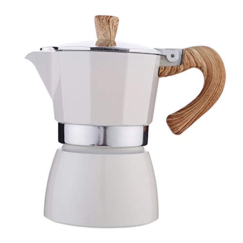 Nobranded Cafetera Italiana Moka Espresso CAFÉ percolador Olla Estufa cafetera 150ml/350ml - Blanco 150ml