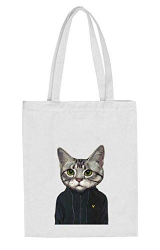 Black Temptation Nette Tiermuster -Schultertasche Schöne Katzen-Einkaufstasche
