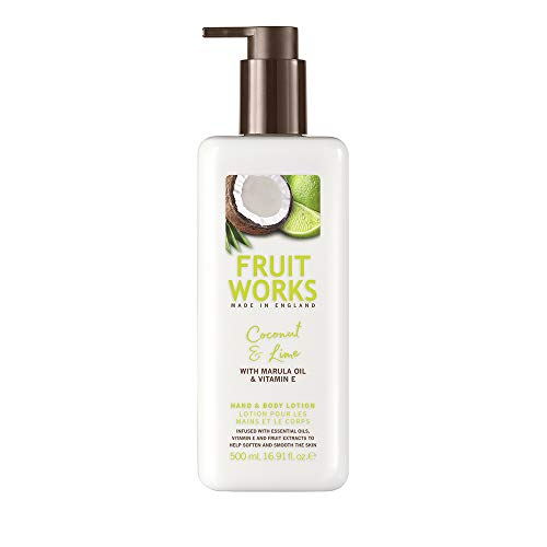 Fruit Works Coconut & Lime Cruelty Free & Vegan Hand & Body Lotion With Natural Extracts 1x 500ml