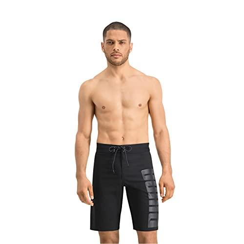 PUMA Long Board Swim Shorts Herren Lange Badehose Badeshorts, Bekleidungsgröße:M, Farbe:Black
