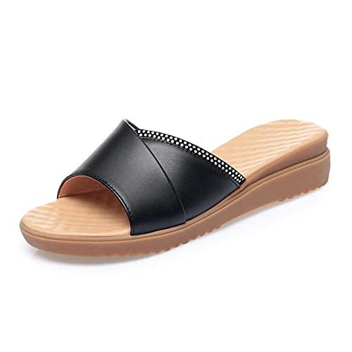 Kirin-1 Zapatillas De Casa para Mujer Verano,Zapatillas De Novia,Sra. Xia Zapatillas, Cuero...