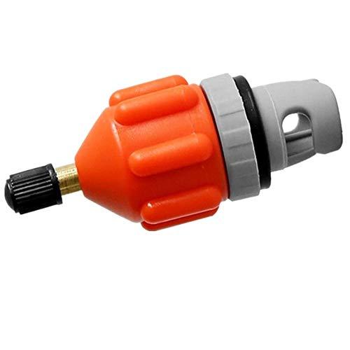 Junta de remo Boquilla de aire Kayak Válvula de aire Cabeza de conversión Bomba de coche Adaptador de inflado Adaptador de inflado Accesorios universales (Color: Naranja)
