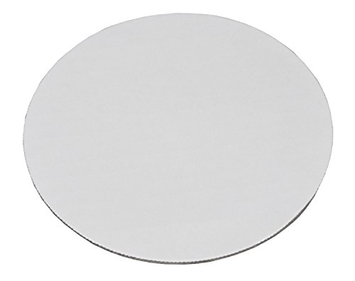 Southern Champion Tray 11217 10' Corrugated Single Wall Cake and Pizza Circle, Greaseproof, White (Case of 100)