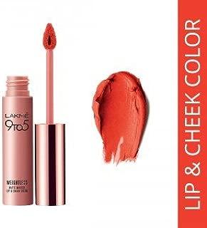 Lakme 9 to 5 Weightless Matte Mousse Lip & Cheek Color - Tangerine Fluff