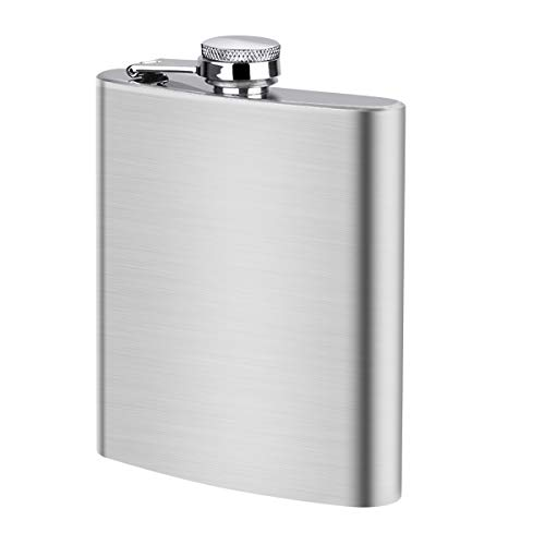Anpro Stainless Steel Hip Flask with Funnel 8 oz