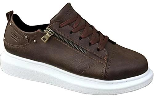 Knack 555 - Zapatos para hombre, estilo casual, para uso diario, ligeros, transpirables, para caminar, Brown, 42 2/3 EU