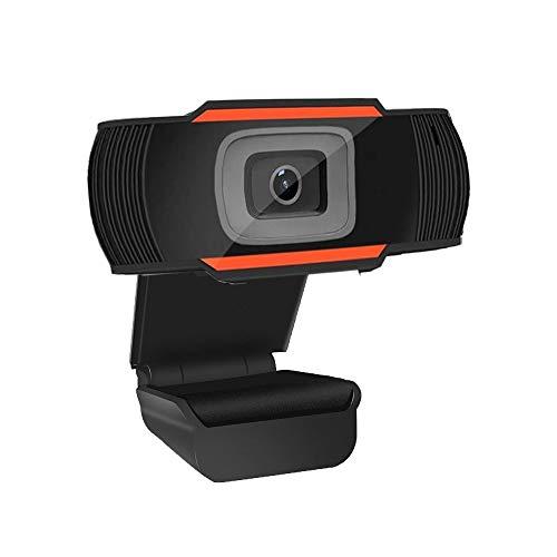 Webcam PC Full HD 720P con Micrófono, Webcam Portátil para PC, Webcam USB 2.0, Streaming Cámara Reducción de Ruido para Videollamadas, Grabación, Conferencias con Clip Giratorio